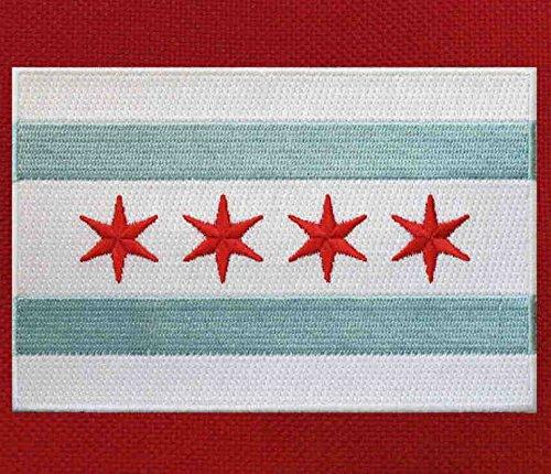Chicago Flag Gym Bag w//SHOE POCKETS Chicago Duffle Bags