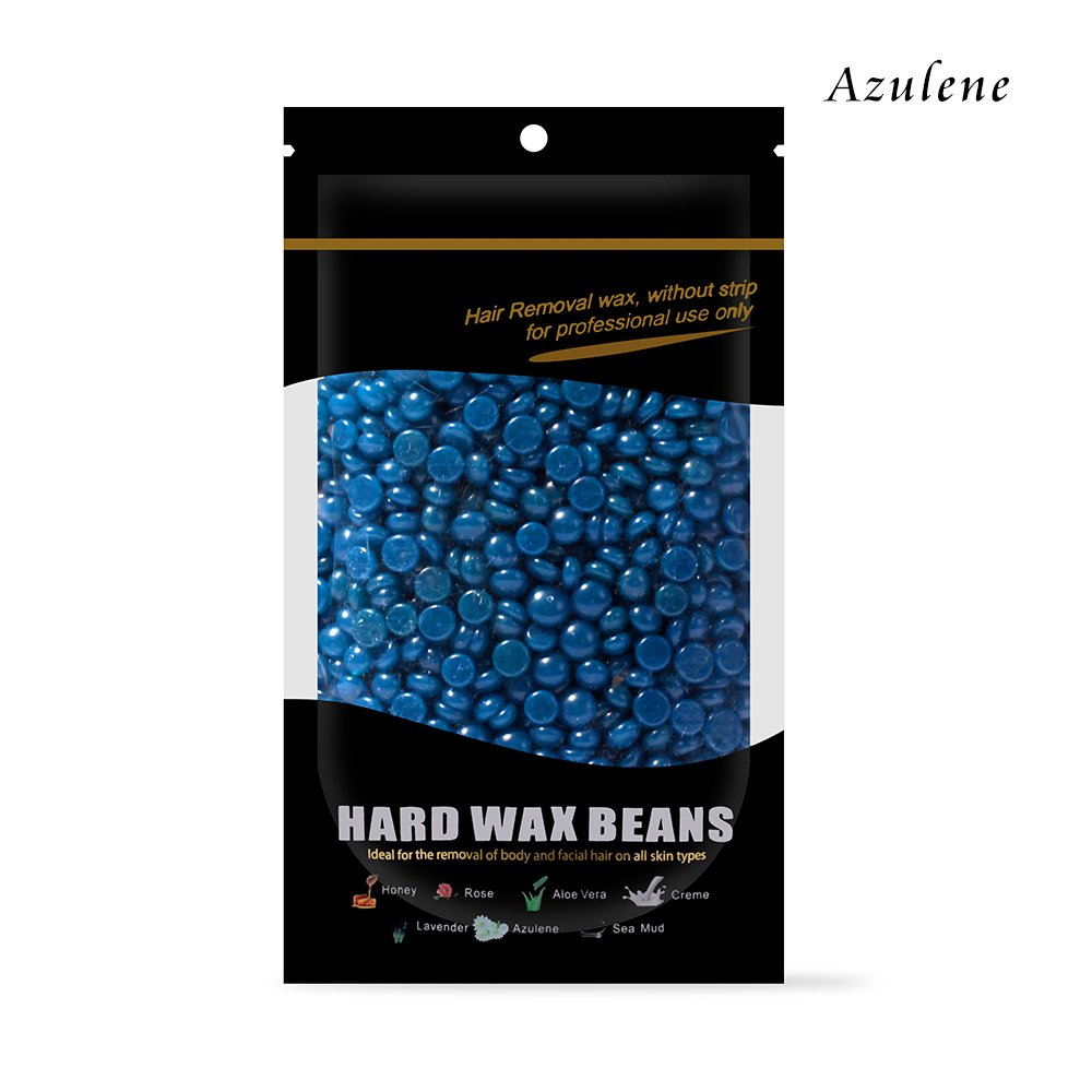 Waxkiss Hard Wax Beans FDA Certified 100g Waxing Bean for Eyebrow Armpit Legs Arms Bikini Hair Removal and Wax Any Part of Your Body Hair Azulene