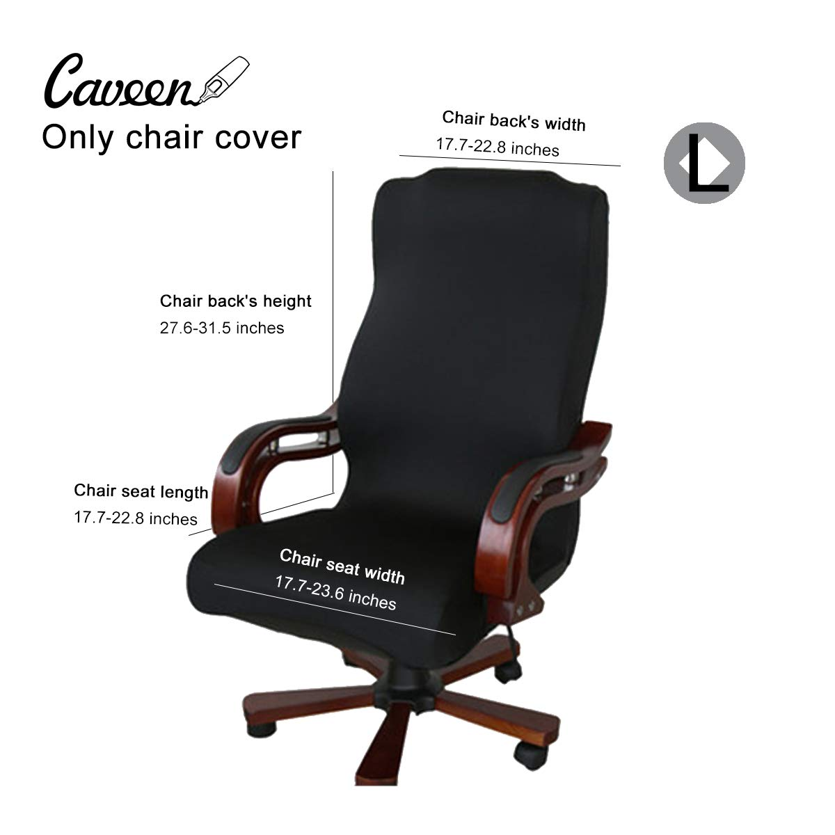 Office Chair Armrest Amazon.com: CAVEEN Office Chair Cover Computer Chair Universal Boss Chair  Cover Modern Simplism Style High Back Large Size (Chair not Included) Black  Large: ...