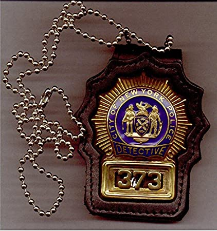 New York/New Jersey Police Detective Style Neck Hanger with beaded chain  badge not included)