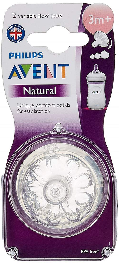 Philips Avent Variable Flow Natural Nipple 6 Pack