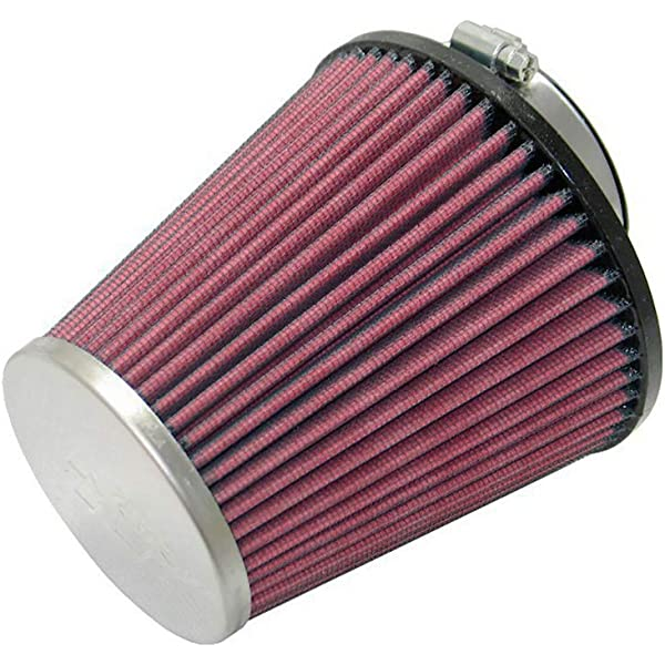 "RED UNIVERSAL 2.5/"" 63.5mm DRY AIR FILTER FOR SUZUKI//SAAB AIR INTAKE+PIPE"