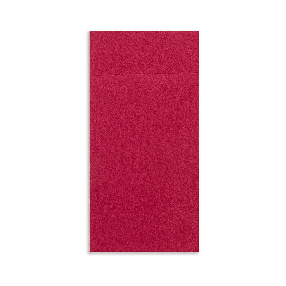 Luxenap Air Laid Kangaroo Burgundy Dinner Napkins - Soft and Durable 16'' x 16'' Paper Napkins with Built-in Flatware Pocket - Disposable and Recyclable – 40-CT – Restaurantware