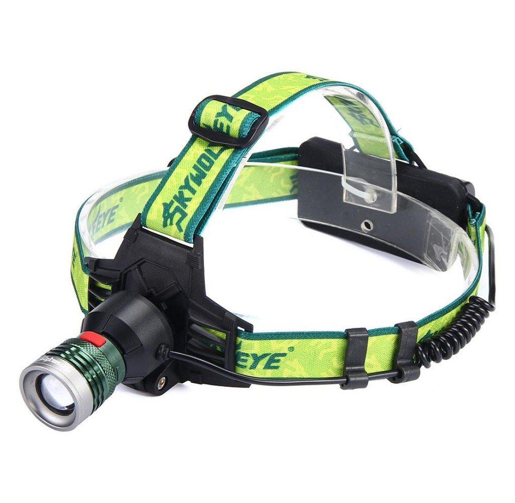 Tongshi XM-L T6 LED ZOOM Linterna Linterna Cabeza Lámpara 18650 ...