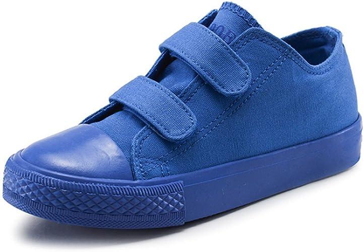Amazon.com: Zapatilla de lona para niño y niña, con correa ...