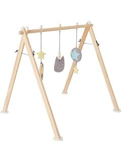 VERTBAUDET Arco de actividades de madera Marron Claro Liso Con Adorno UNICA