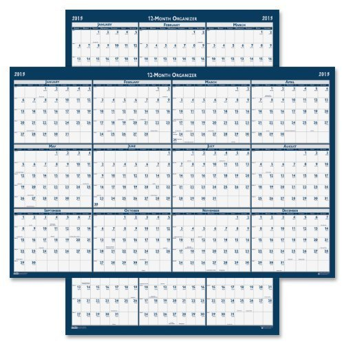 (House of Doolittle Laminated Poster Style Yearly Wall Calendar, January-December, 2013, 24