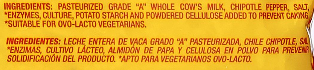 V&V Supremo, Shredded Chipotle Cheese, 7.06 oz