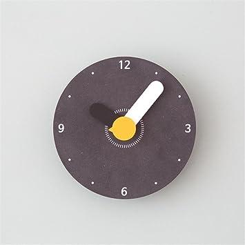 Reloj trompeta creativa reloj de pared moderna de dibujos animados niños dormitorio mute pared personalizada lindo Reloj F: Amazon.es: Hogar