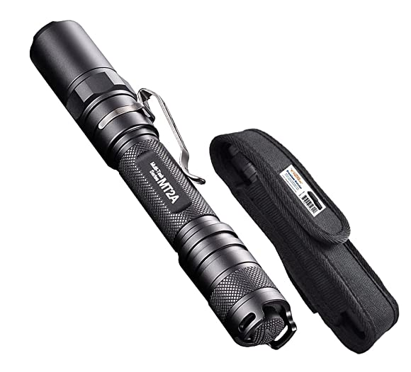 Nitecore MT2A 345 Lumens LED Flashlight w/ Bonus Premium Holster - Use 2x AA Batteries