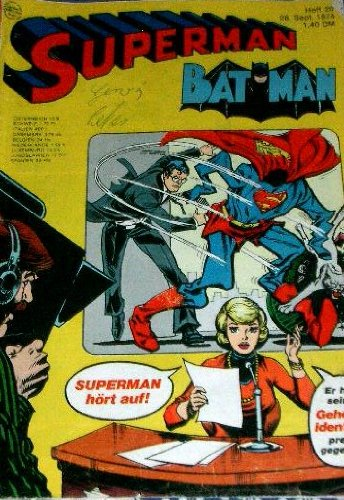 Superman Batman Heft 20 1974 Comic – 1974 Adolf Kabatek Ehapa Verlag B003NXL460 Belletristik - Comic