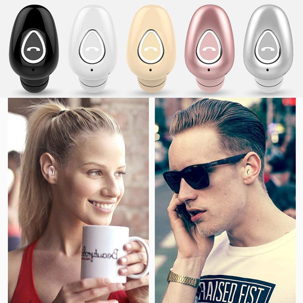 eubell Bluetooth Headphone, Wireless Sport Earbud 5 Hours Talking Time HD Microphone Bluetooth Headset One Piece Complexion