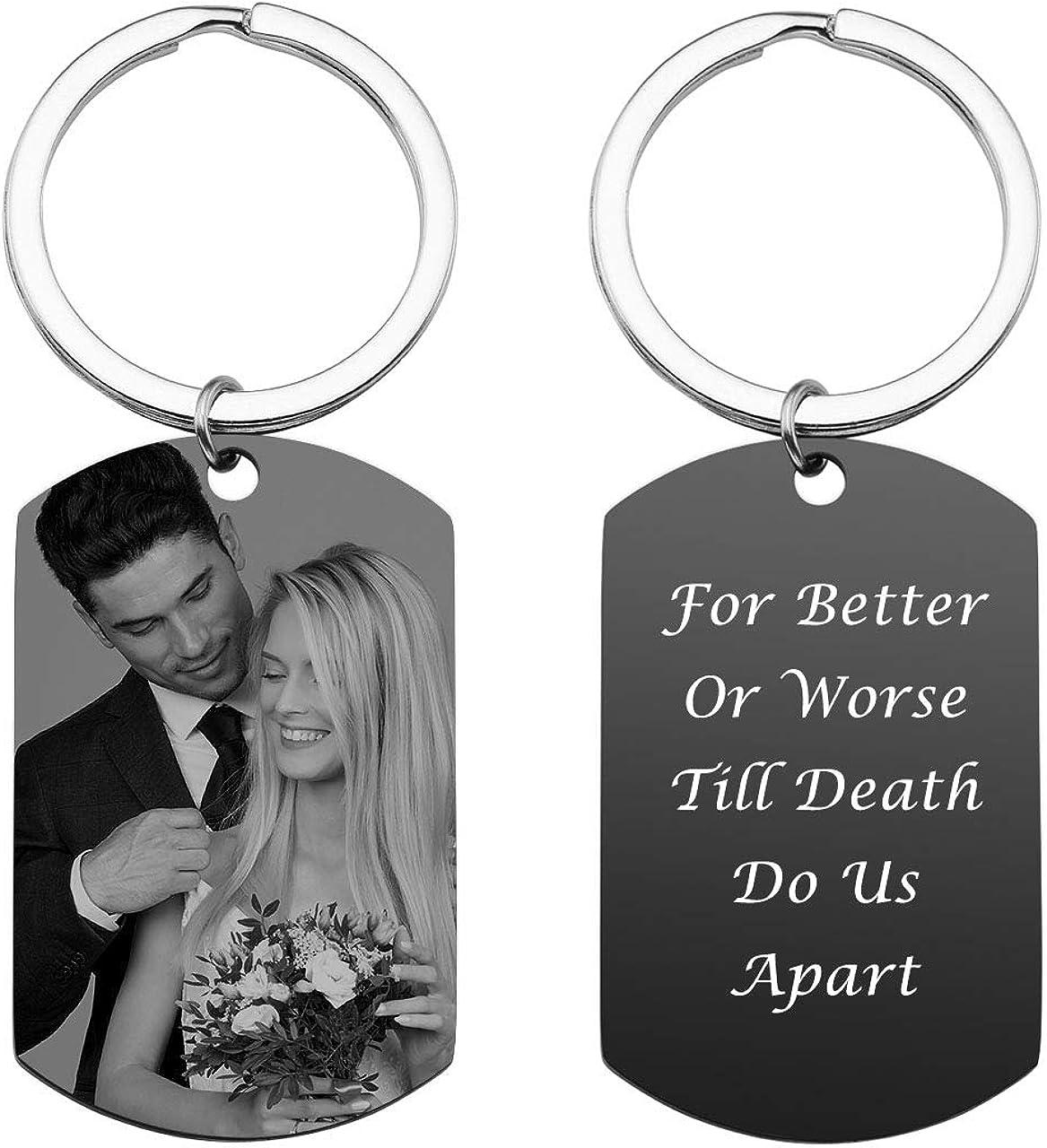 Personalised Keyring Birthday Gifts Boyfriend Girlfriend Couple Anniversary Her