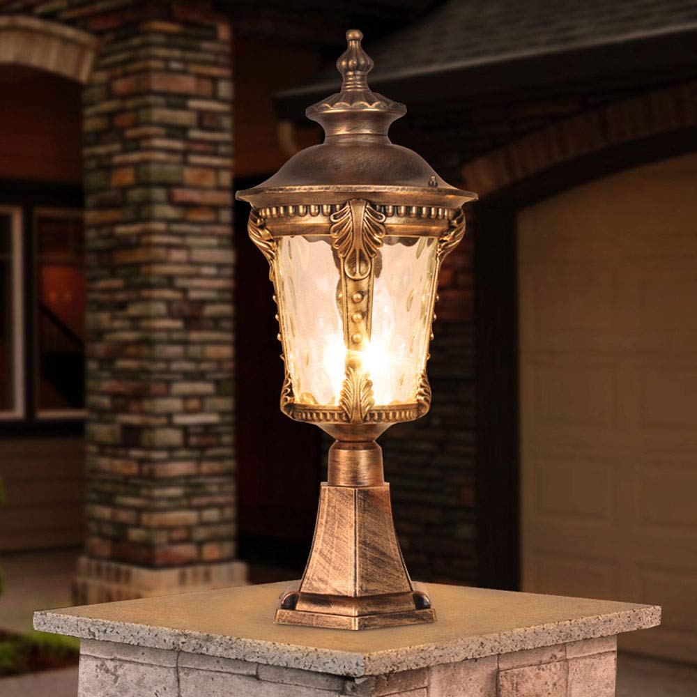 Waterproof Wall Light/Outdoor Column Head Light/Villa Garden Door Light/Door Light/Garden Light/Wall Lamp (Color : Bronze 2) by Outdoor lighting (Image #1)
