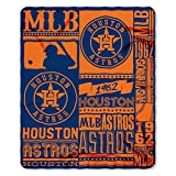 The Northwest Company MLB Houston Astros Printed Fleece Throw, One Size, Multicolor