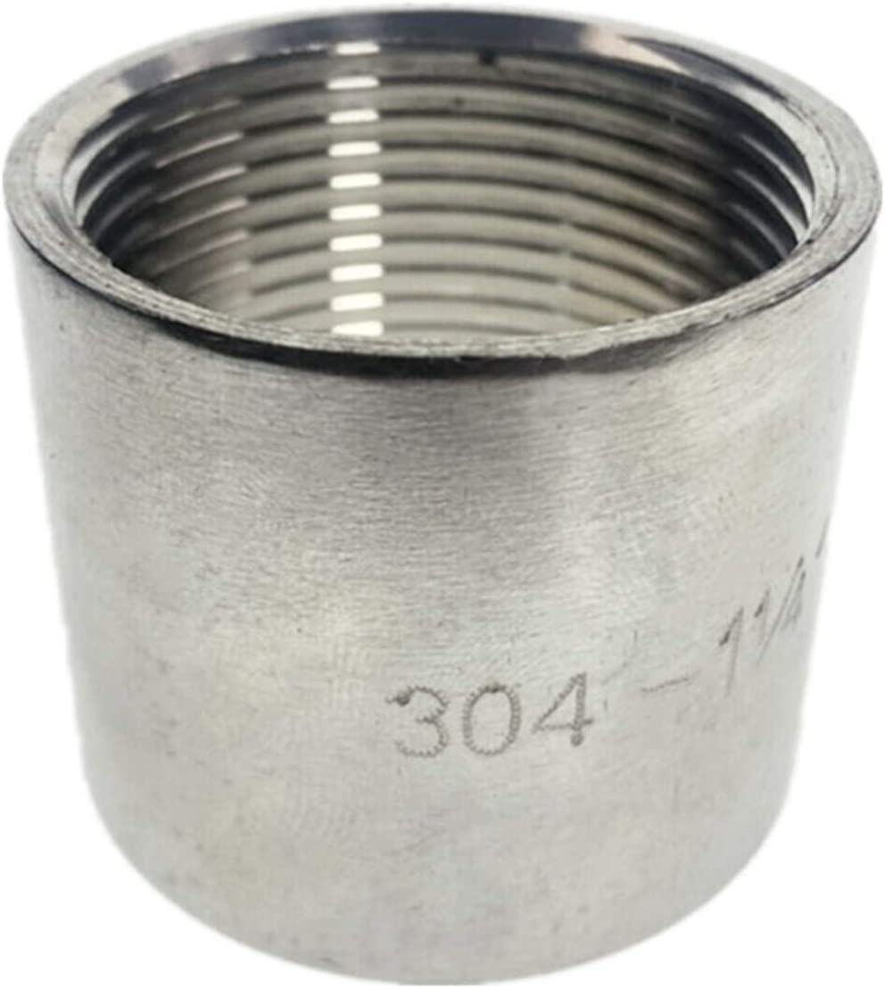 Thread Specification : DN40 3pcs BSP Female Straight Nipple Joint Pipe Connection 304 Stainless Steel connector Fittings Durable