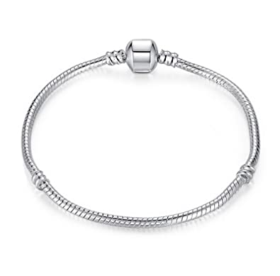 children charm childrens sterling s inches amazon long silver bracelet dp