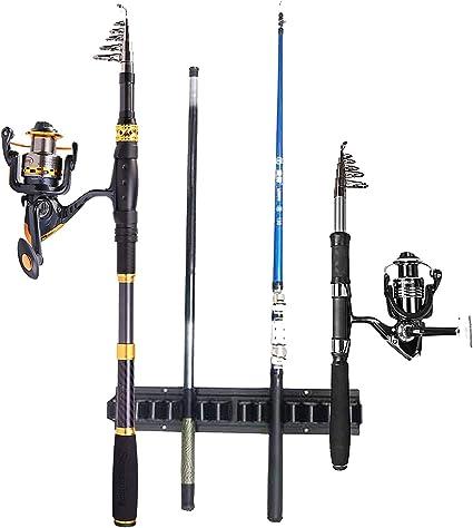 Herramienta de Pesca Ajustable Soporte de Metal para ca/ña de Pescar Knowled Soporte para ca/ña de Pescar Bracket Soporte para ca/ña de Pescar Color Plateado Soporte autom/ático para ca/ña de Pescar