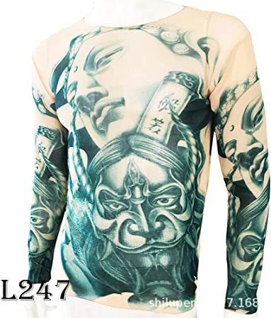 tzxdbh Tatuaje Tatuaje Camiseta de Manga Larga Camisa de Mujer con Estampado Digital Camisa de Fondo Festival de música Disfraz L247 如来佛 祖 170CM-182CM 60KG-110KG: Amazon.es: Hogar
