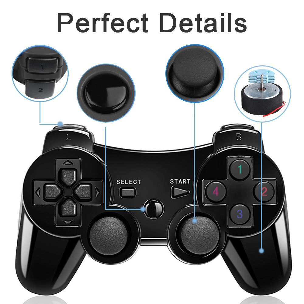 Amazon.com: PS3 Controller 2 Pack Seis Axis Controladores ...