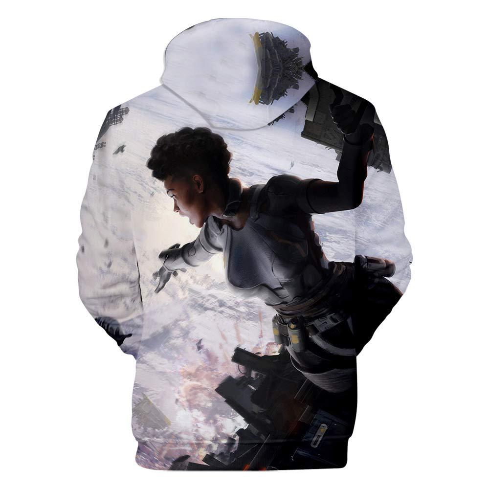 CTOOO Childrens New Sweatshirt Apex Legends 3D Digital Print Hoodie for Boys and Girls