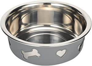 Tugia Large Dog Bowl-Large Capacity Stainless Steel Bowl with Non-Slip Silicone Bottom for Pet Dog Cat