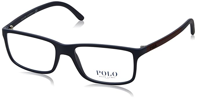 bd3bf44440b7 Amazon.com: Polo Men's PH2126 Eyeglasses Matte Blue 53mm: Clothing