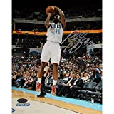 Michael Kidd-Gilchrist of Charlotte Bobcats Jump Shot in White Jesery Signed 8x10 Photo