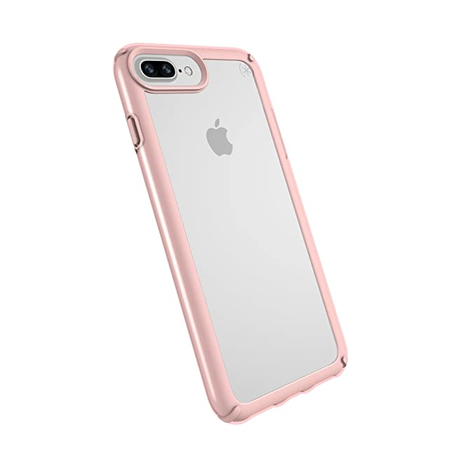 sports shoes f5f78 3efd8 Speck iPhone 8 Plus Presidio Show Case, Show Off Your Phone and Stay  Protected with IMPACTIUM 10-Feet Drop Protection, Clear/Rose Gold