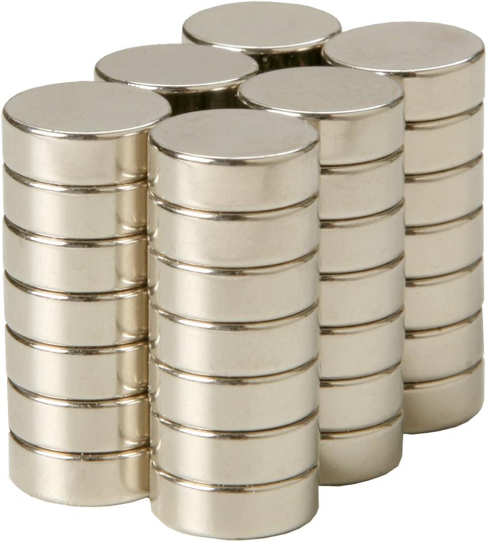 Im/án de disco de neodimio de 10 mm de di/ámetro x 20 mm de grosor x 5 unidades