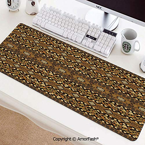 Large Mouse pad with Premium-Textured Cloth,Non-Slip Rubber Base31.5