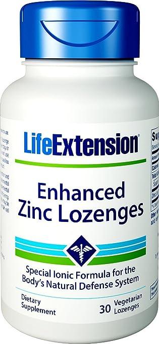 Amazon Com Life Extension Enhanced Zinc Lozenges 30 Vegetarian
