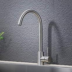 Kitchen VAPSINT 360 Degree Swivel Modern Hot& Cold Mixer Stainless Steel Bar Kitchen Sink Faucet, Easy Installation Good Valued… modern sink faucets