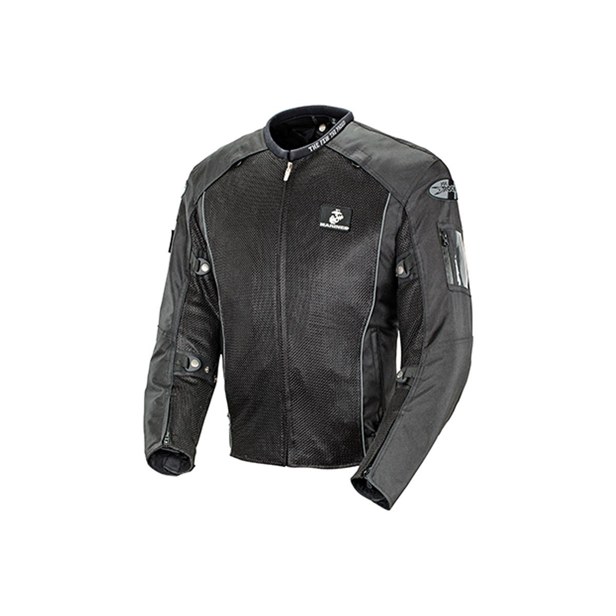 Joe Rocket Marines Recon Mens Mesh Sports Bike Racing Motorcycle Jacket - Black / Large