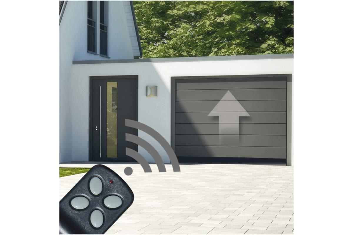 gris con Fuerza 1000 N//Incl 2 Manos a Distancia y desbloqueo de Emergencia Schellenberg 60914 Motor para Puertas seccionales de Garaje Smart Drive 14 m/²