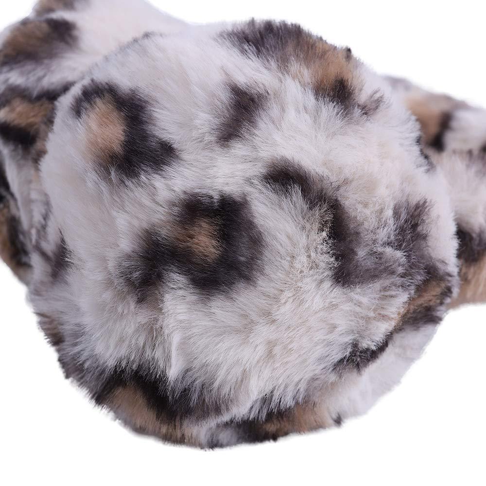 Earmuff for Women Girls Cute Adjustable Ear Warmer for Winter Worm Fluffy Faux Fur Ear Muff
