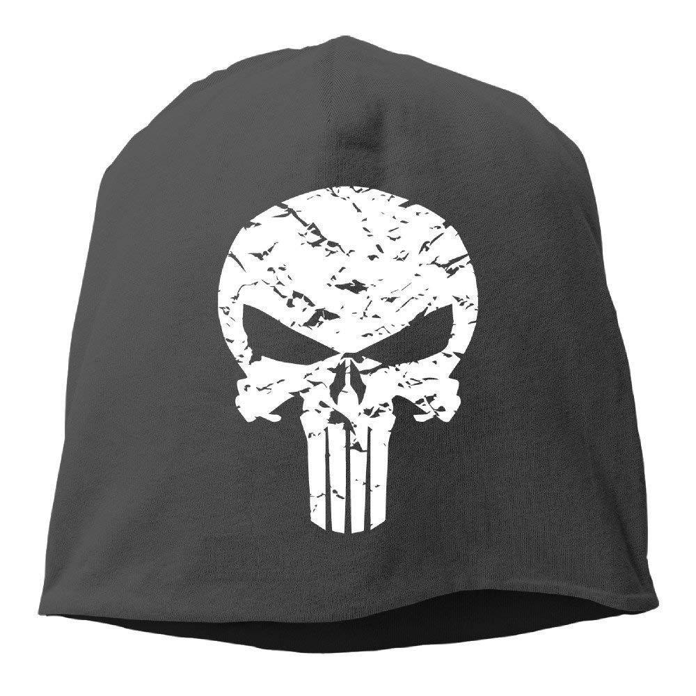 JIEKEIO Funny Baseball Caps Hats Punisher Logo Beanies cap for Men Women (5 Colors)