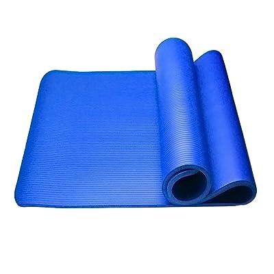 Tapis de yoga / tapis antidérapant épais de forme physique / Tapis de yoga de sports en plein air / tapis de pratique de danse ( Couleur : Bleu , taille : 183*80CM )