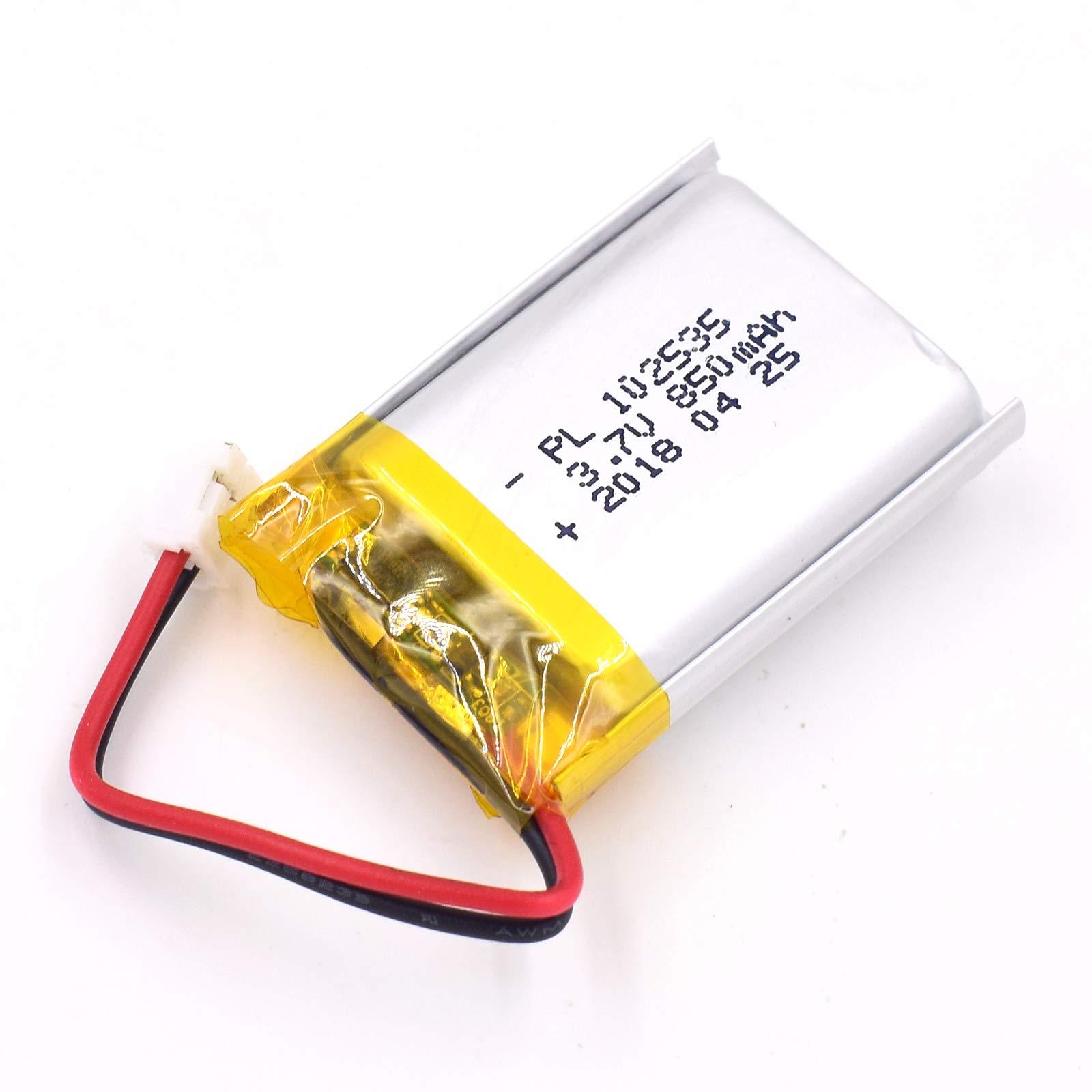 Bateria Lipo 3.7V 850mAh 102535 Recargable JST Conector