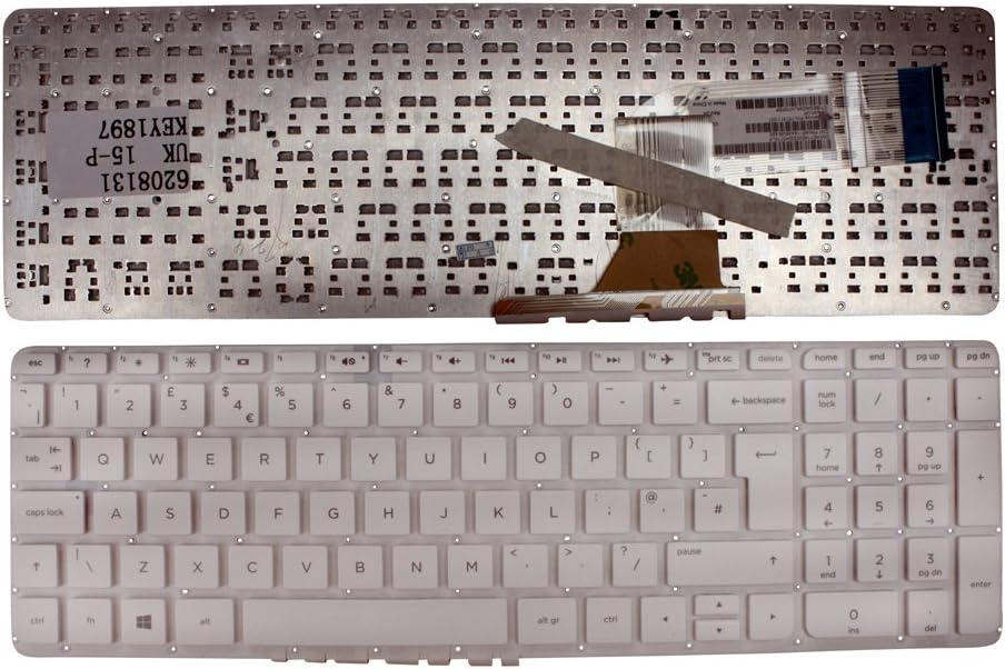 Keyboards4Laptops UK Layout White Windows 8 Laptop Keyboard Compatible with HP Pavilion 17-f053ns, HP Pavilion 17-f053sr, HP Pavilion 17-F053US, HP Pavilion 17-f054er, HP Pavilion 17-f054nc