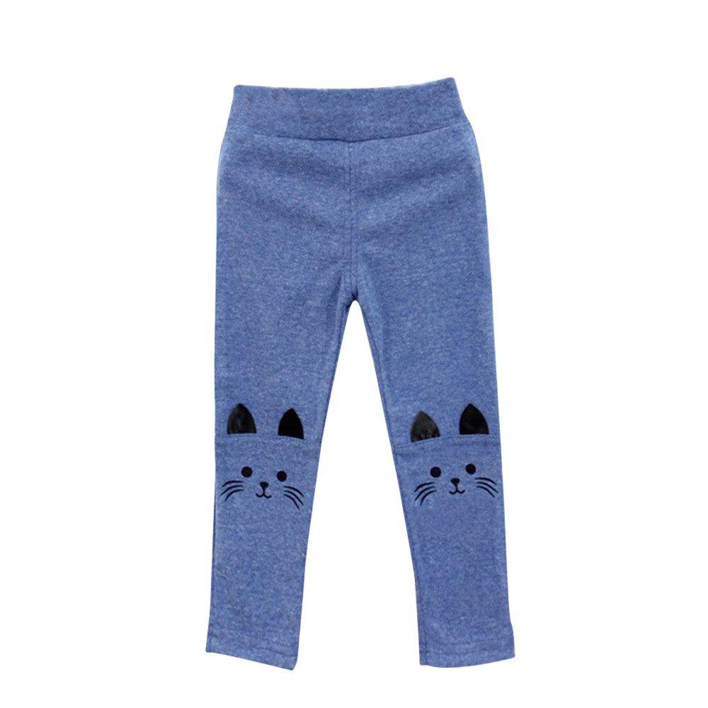 Hometom Kids Thermal Pant Skinny Trousers Cartoon Cat