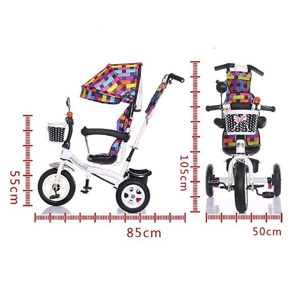 Amazon.com: Multifuncional niños triciclo carro de bebé 1 ...