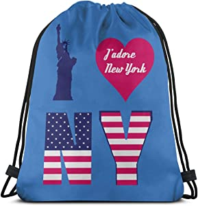 I Love New York 9 Classic Drawstring Rucksack Beam Port Travel Bag