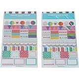 12x Adorable Hojas de Calcomanias de Viajes para DIY Decoración de Diario Cuaderno Notas