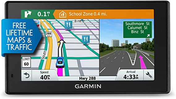 Renewed Garmin DriveSmart 60LMT 6in Portable GPS Navigator w// Lifetime Maps /& Traffic