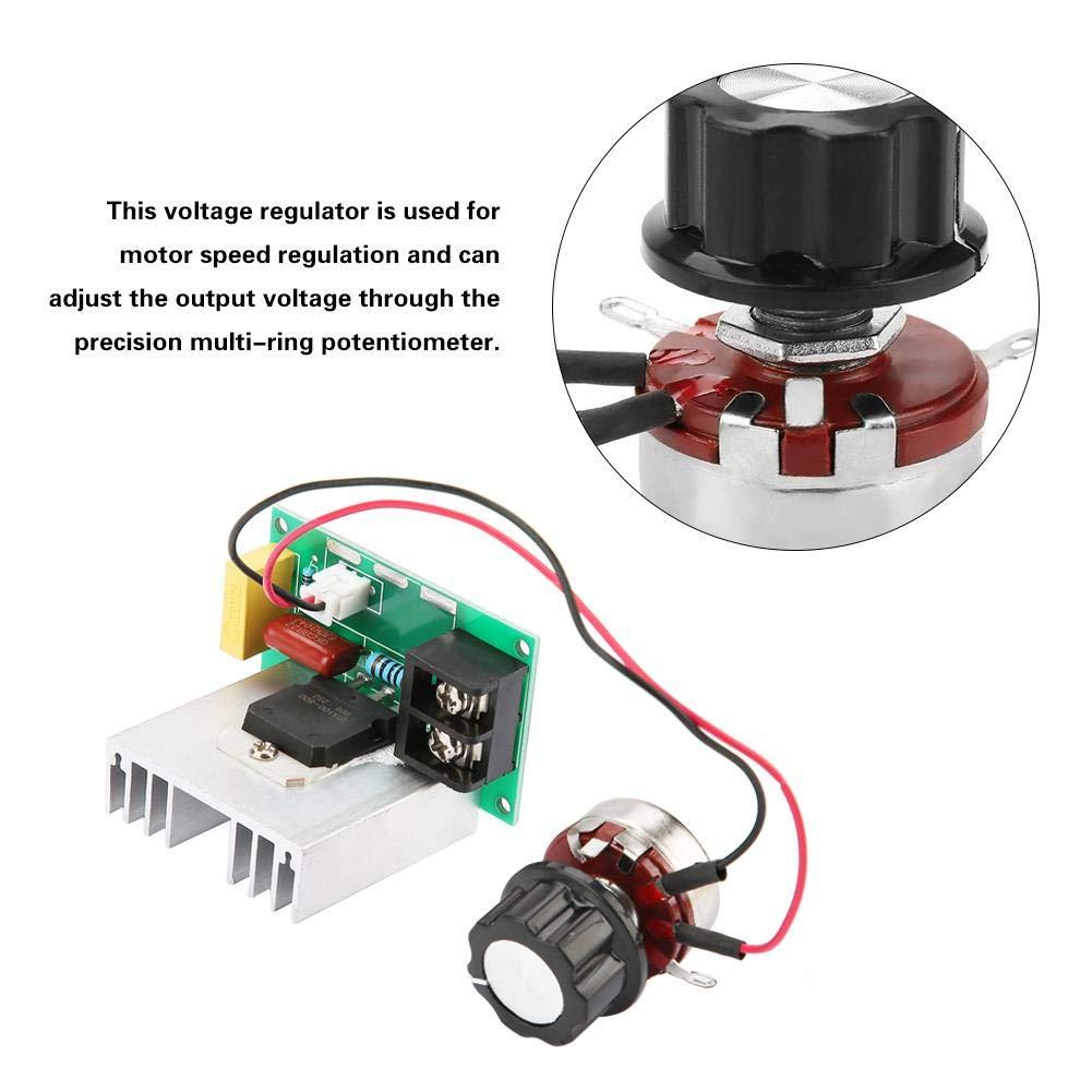 100A r/égulateur de moteur haute puissance 8000W AC 0V-220V r/églable en continu Contr/ôleur de vitesse de moteur r/égulateur de tension de contr/ôleur de vitesse de moteur pr/écis 220V AC