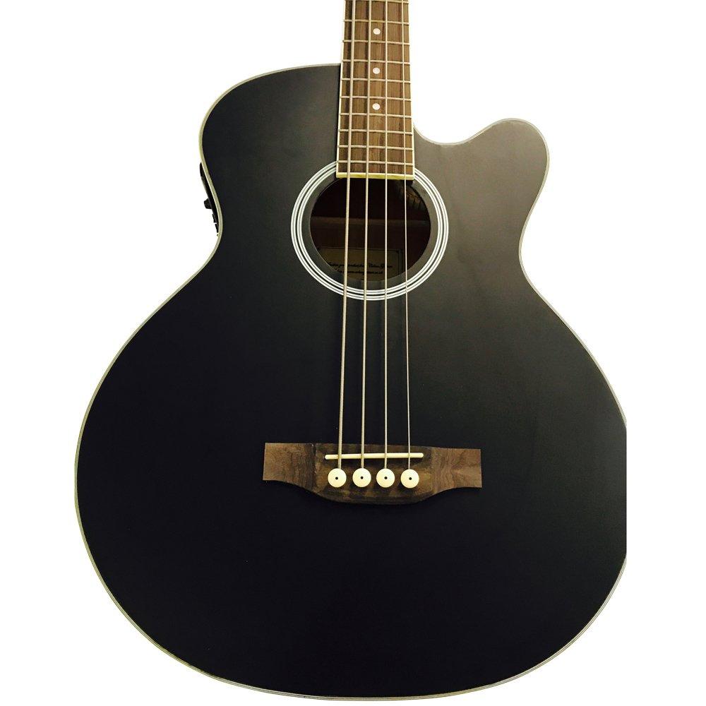 Coban Guitars - Bajo Acústico de lujo 4 ecualizadores guitarra sólo negro mate marcado *: Amazon.es: Instrumentos musicales