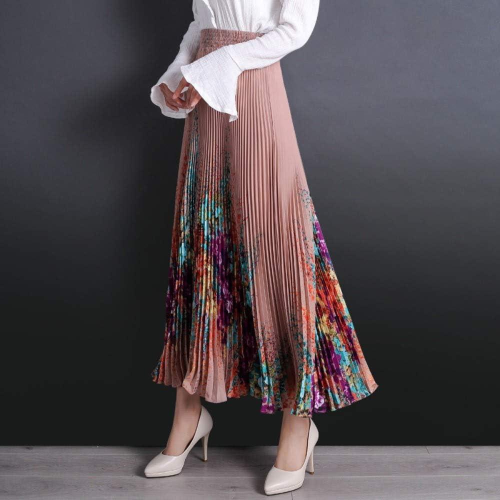 QZBTU Faldas Mujer Falda para Mujer Estampado De Flores Elástico ...