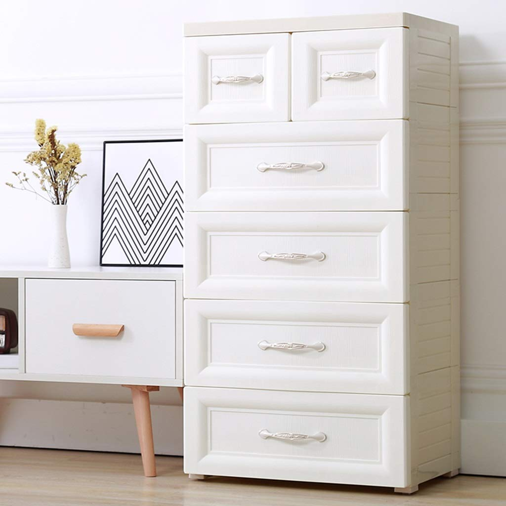 Amazon.com: Bedside table GJM Shop Plastic Storage Cabinet ...