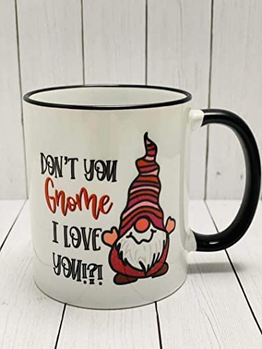 MAKES A GREAT GIFT CERAMIC DISHWASHER AND MICROWAVE SAFE VALENTINE'S GNOME MUG